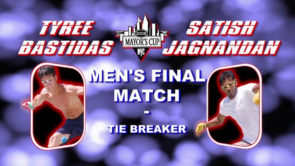 2008 Mayor's Cup – Men's Pro Championship Match – Tiebreaker – Satish Jagnandan vs Tyree Bastidas