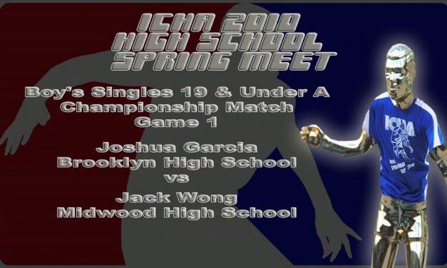 Boy's Singles 19 & Under A – Championship Match – Game 1 – Joshua Garcia vs Jack Wong