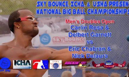 Men's Doubles Open – Carlin Rosa & Delbert Garnett vs Eric Chabran & Nick Delaura
