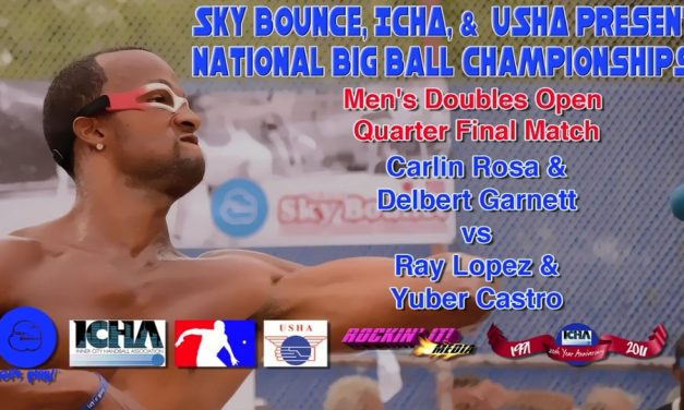 Men's Doubles Open Quarter Final Match – Carlin Rosa & Delbert Garnett vs Ray Lopez & Yuber Castro