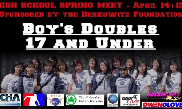 Boy's Doubles 17 and Under