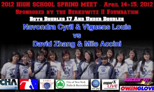 Boys Doubles 17 And Under – Navondra Cyril & Viguens Louis vs David Zhang & Mile Accini