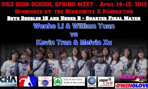 Boys Doubles 19 and Under B – Quarter Final Match – Wenhe Li & William Yuan vs Kevin Tran & Melvin XuNOT