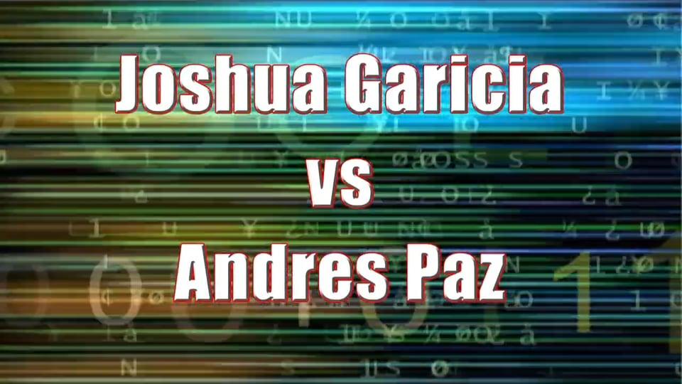 Boy's Singles 17 & Under – Championship Match – Joshua Garcia vs Andres Paz