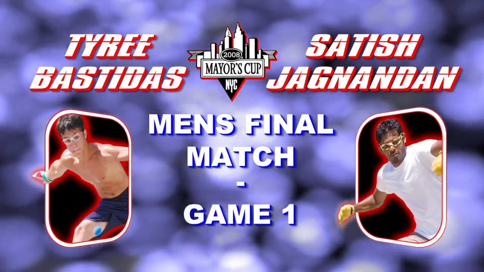 2008 Mayor's Cup – Men's Pro Championship Match – Game 1 – Satish Jagnandan vs Tyree Bastidas