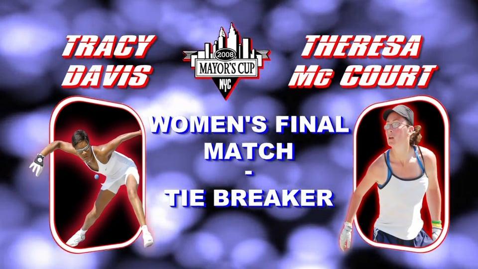 2008 Mayor's Cup – Women's Pro Championship Match – Tiebreaker – Tracy Davis vs Theresa Mc Court