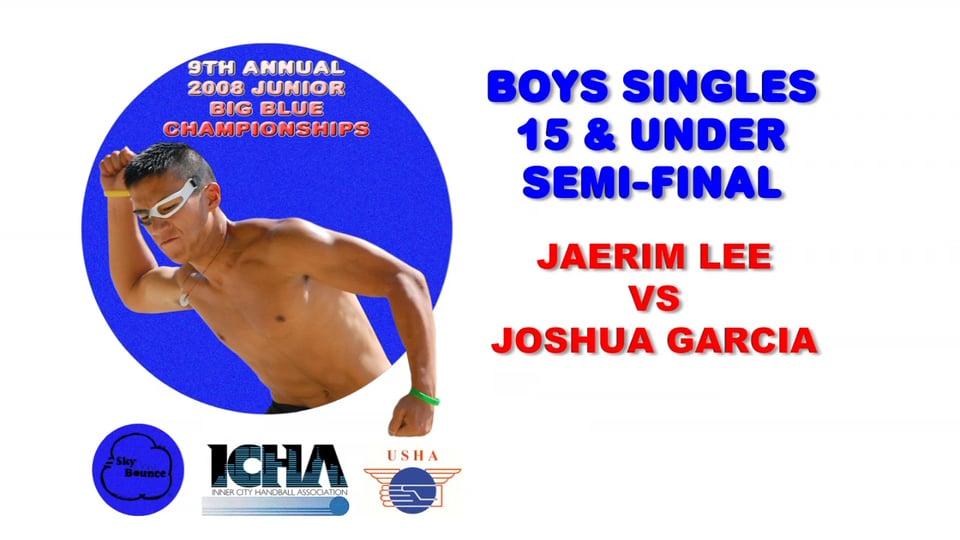 2008 Junior Big Blue – Boys Singles 15 & Under Semifinal Match – Jaerim Lee vs Joshua Garcia
