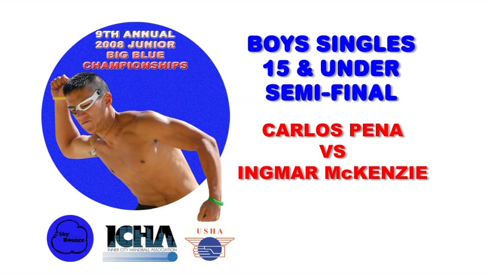 2008 Junior Big Blue – Boys Singles 15 & Under Semifinal – Carlos Pena vs Ingmar McKenzie