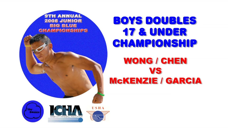 2008 Junior Big Blue – Boys Doubles 17 & Under Championship Match – Ingmar McKenzie & Joshua Garcia vs Wong & Chen