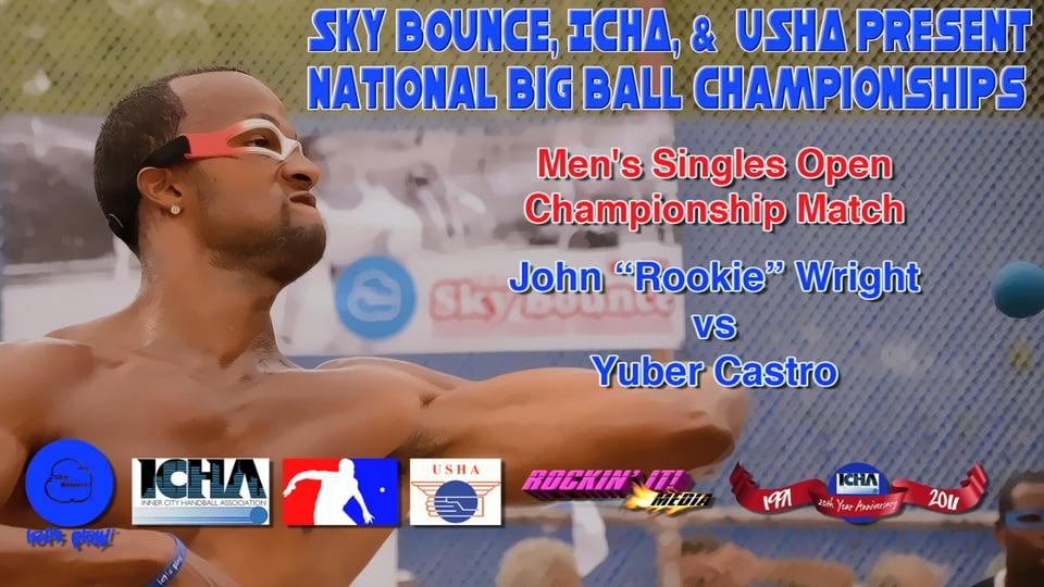 "Men's Singles Open Championship Match – John ""Rookie"" Wright vs Yuber Castro"