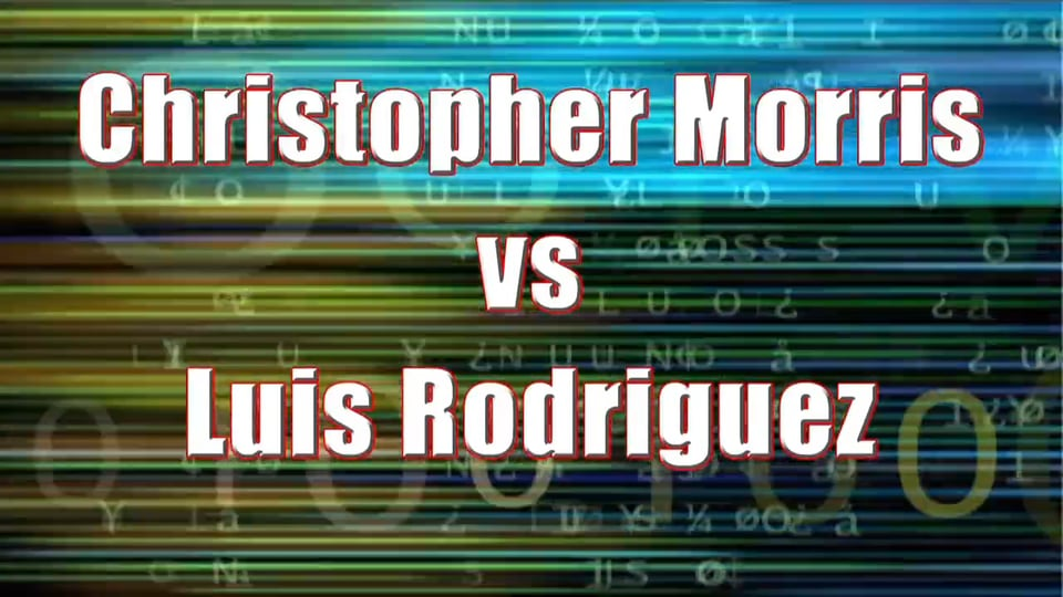 Men's Singles Amateur – Christopher Morris vs Luis Rodriguez