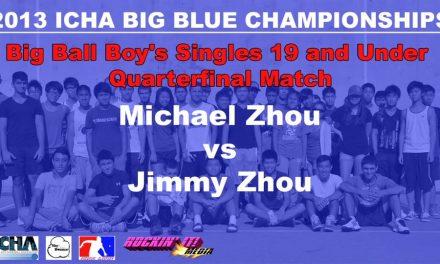 Big Ball Boy's Singles 19 and Under Quarterfinal Match – Michael Zhou vs Jimmy Zhou