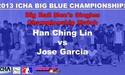 Big Ball Men's Singles Open Championship Match – Han Ching Lin vs Jose Garcia