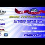 Men's Singles Open Championship Match – Paul Angel vs Isaac Acosta – Game 1