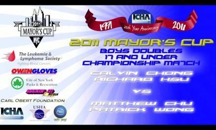 Boys Doubles 17 and Under – Championship Match – Calvin Chong & Richard Hsu vs Matthew Chu & Patrick Wong