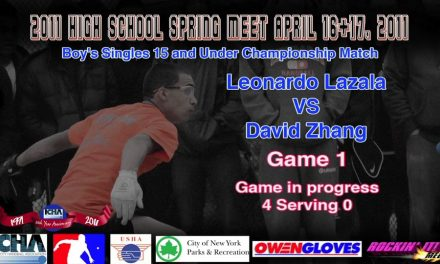 Boys Doubles 17 and Under Doubles Championship Match – Raymond Ng & Wei Zeng vs William Nelson & Joey Gonzalez – Game 2