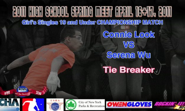 Girl's Singles 19 and Under Championship Match – Connie Look vs Serena Wu – Tie Breaker