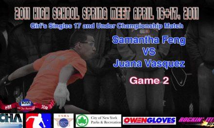 Girl's Singles 17 and Under Championship Match – Samantha Feng vs Juana Vasquez – Game 2