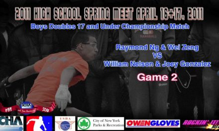 Boys Doubles 17 and Under Championship Match – Raymond Ng & Wei Zeng vs William Nelson & Joey Gonzalez – Game 2