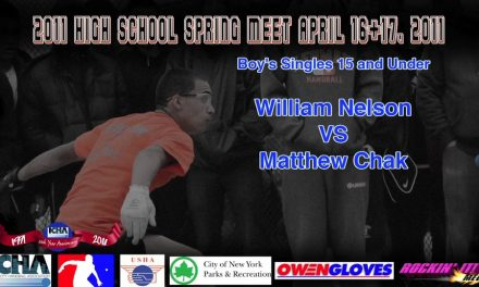 Boy's Singles 15 and Under – William Nelson vs Matthew Chak