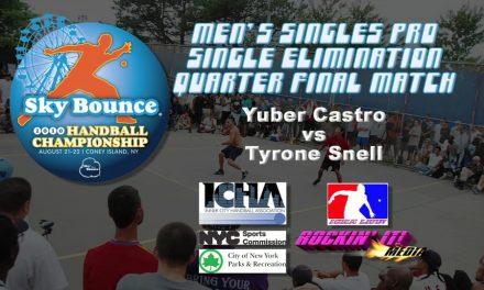 Men's Singles Pro Single Elimination Quarter Final Match – Castro vs Snell