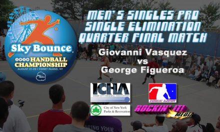 Men's Singles Pro Quarterfinal Match – Giovanni Vasquez vs George Figueroa