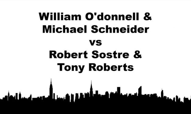 Men's Doubles Open – Quarterfinal Match – William O'donnell & Michael Schneider vs Robert Sostre & Tony Roberts