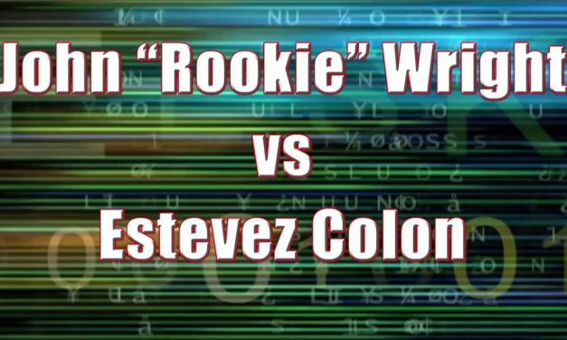 """Men's Pro Singles – John """"Rookie"""" Wright vs Estevez Colon"""