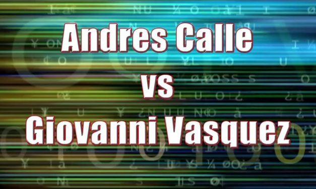 Men's Pro Singles – Quarterfinal Match – Andres Calle vs Giovanni Vasquez