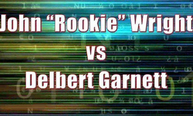 Men's Pro Singles – Quarterfinal Match – John Rookie Wright vs Delbert Garnett