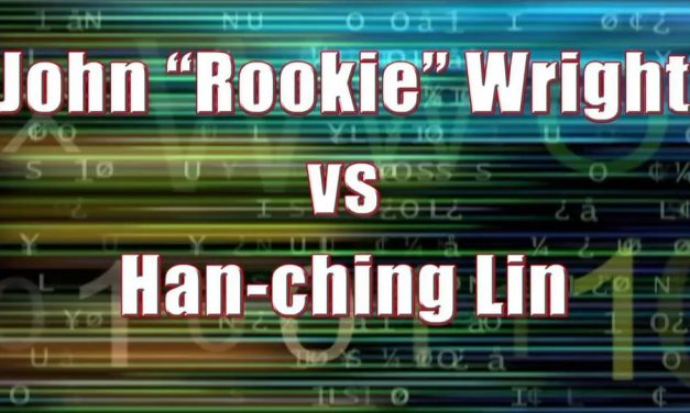 "Men's Pro Singles – Semi Finall Match – John ""Rookie"" Wright vs Han-ching Lin"
