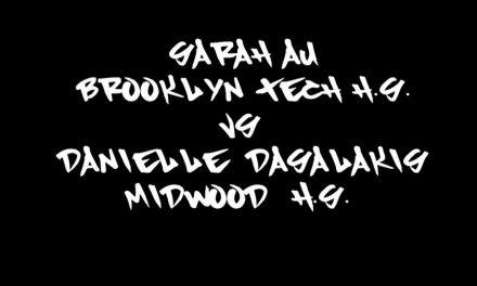 Girls 19 & Under Final Match – Game 3 – Sarah Au vs Danielle Dasalakis