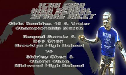 Girls Doubles 19 & Under Championship Match – Raquel Garcia & Zoe Chen vs Shirley & Cheryl Chen
