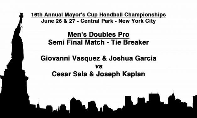 Men's Doubles Pro Semi Final Match – Tie Breaker – Giovanni Vasquez & Joshua Garcia vs Cesar Sala & Joseph Kaplan