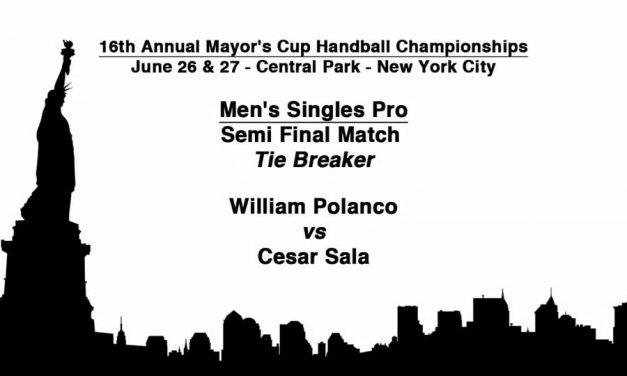 Men's Singles Pro Semifinal Match Tie Breaker – William Polanco vs Cesar Sala