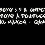 Boys 19 & Under – Boys A Doubles Final Match – Game 1 – Alex Lau & Michael Wu vs Allen Leon & Joshua Garcia