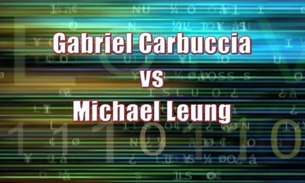 Boy's Singles 13 & Under – Semi Final Match – Gabriel Carbuccia vs Michael Leung