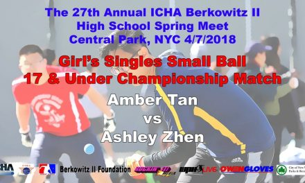Girl's Singles Small Ball 17 & Under Championship Match – Amber Tan vs Ashley Zhen