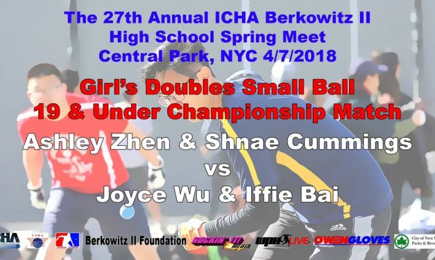 Girl's Doubles Small Ball 19 & Under Championship Match – Ashley Zhen & Shnae Cummings vs Joyce Wu & Iffie Bai