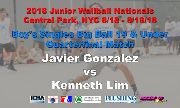 Boy's Singles Big Ball 19 and Under Semifinal Match – Gary Luk vs Kenneth Lim