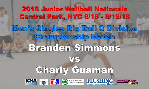 Men's Singles Big Ball C Division – Championship Match – Branden Simmons vs Charly Guaman