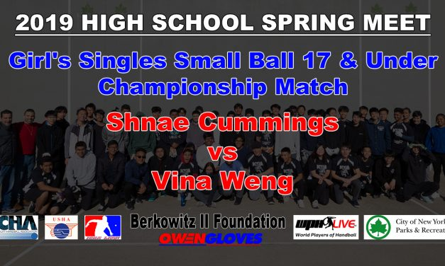 Girl's Singles Small Ball 17 & Under Championship Match – Shnae Cummings vs Vina Weng