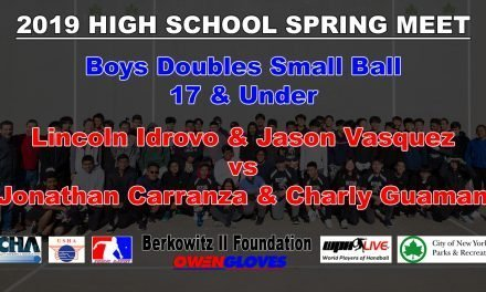 Boys Doubles 17 & Under – Lincoln Idrovo & Jason Vasquez vs Jonathan Carranza & Charly Guaman