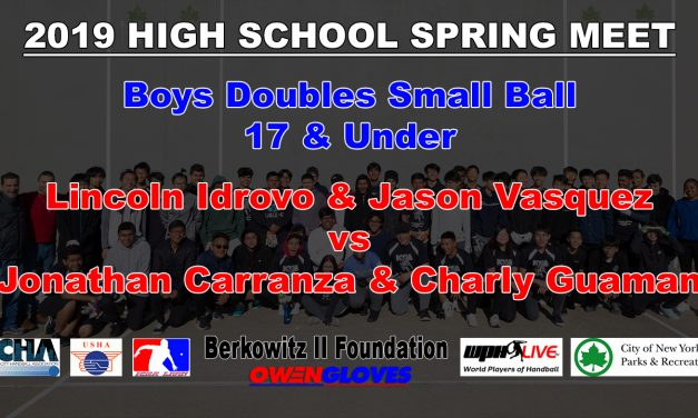 Boys Doubles 17 & Under – Lincoln Idrovo & Jason Vasquez vs Jonathan Carranza & Charly Guaman