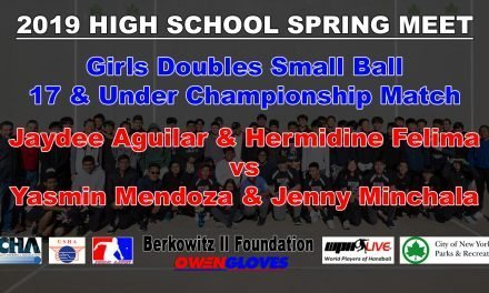 Girls Doubles Small Ball 17 & Under Championship Match – Jaydee Aguilar & Hermidine Felima vs Yasmin Mendoza & Jenny Minchala