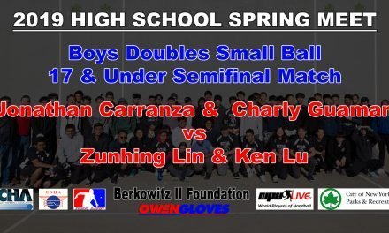 Boys Doubles Small Ball 17 & Under Semifinal Match – Jonathan Carranza & Charly Guaman vs Zunhing Lin & Ken Lu