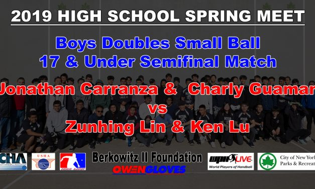 Boys Doubles Small Ball 17 & Under Semifinal Match – Jonathan Carranza & Charly Guaman vs Zunhing Lin & Ken Lu