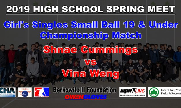 Girl's Singles Small Ball 19 & Under Championship Match – Shnae Cummings vs Vina Weng