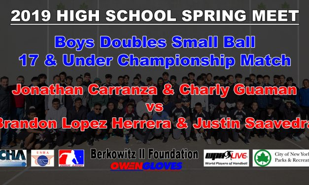 Boys Doubles Small Ball 17 & Under Championship Match – Jonathan Carranza &  Charly Guaman vs Brandon Lopez Herrera & Justi